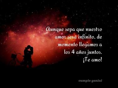 Aunque sepa que nuestro amor será infinito