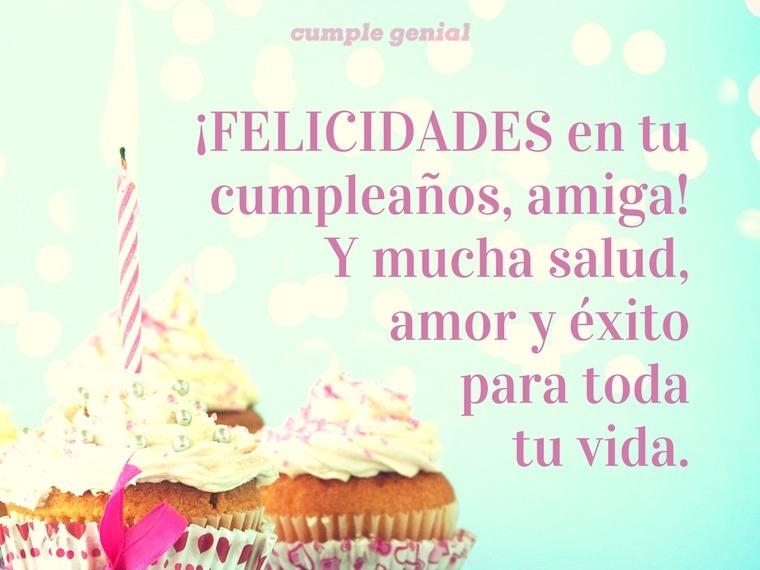 Felicidades en tu cumpleaños, amiga