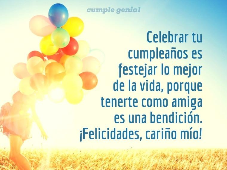 La alegría de celebrar tu cumpleaños, amiga