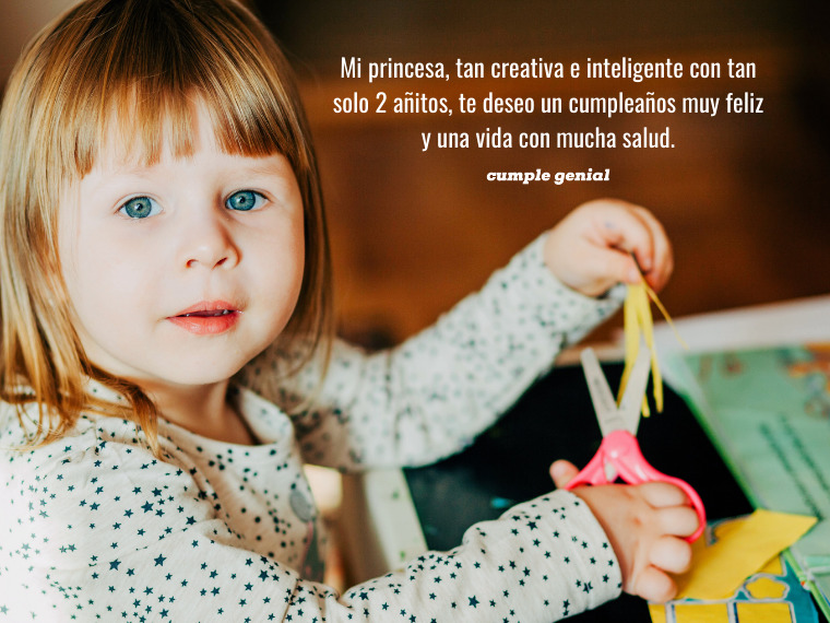 Mi princesa creativa e inteligente