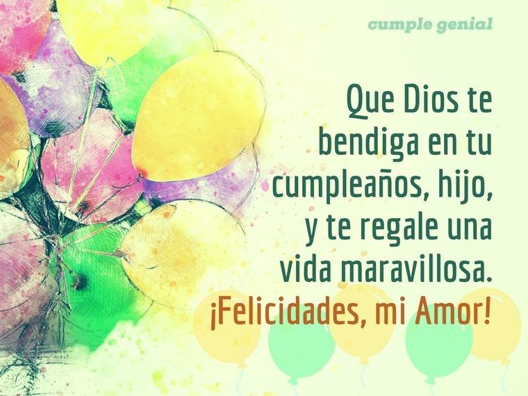 Feliz cumpleanos dios te bendiga