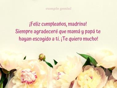 Feliz Cumpleaños Madrina Cumple Genial
