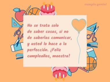 Cancion Cumpleanos Feliz Original En Espanol.Feliz Cumpleanos Maestra Cumple Genial